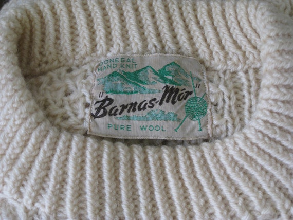 1950s Donegal Hand Knit Fishermans Irish Wool Swe… - image 5