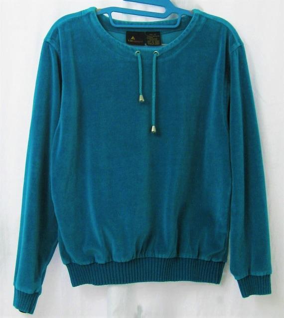 1980s LizSport Liz Claiborne Green Turquoise Velou