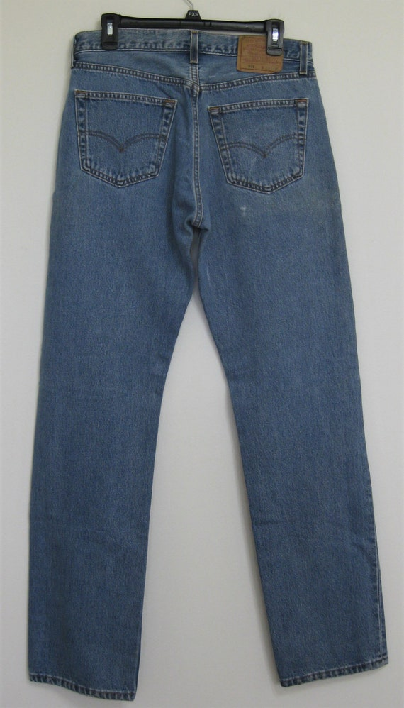 1990s LEVIS 501 Red Tab Jeans 32X33 USA Made Light