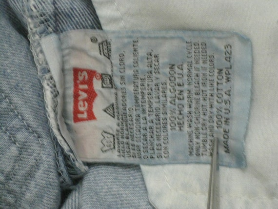 1990s LEVIS 501 Red Tab Jeans 30X32 USA Made Ligh… - image 6