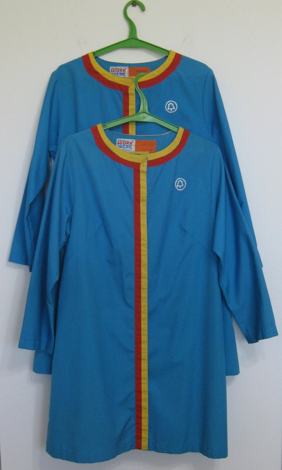 Lab Coat 1970s Bell Atlantic Pair (2) Blue Tattoo