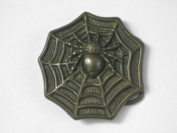 1980s Spider Spiderweb Belt Buckle New