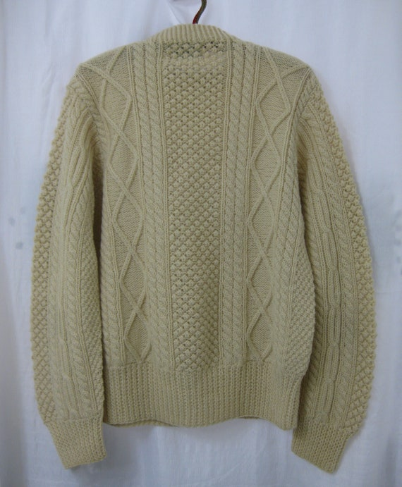 1950s Donegal Hand Knit Fishermans Irish Wool Swe… - image 2