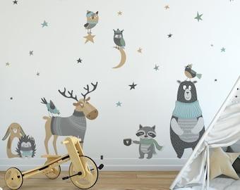 Kinderzimmer Wandtattoo, Set Mit Waldtiere