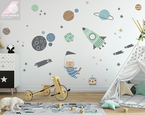 Planeten Kinderzimmer Wandtattoo Weltraum Sterne Etsy
