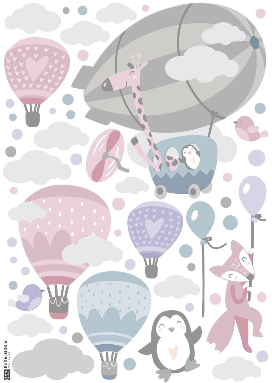 BALLONS Wandtattoo Wolken Luftballons Kinderzimmer