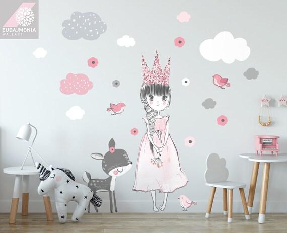 Prinzessin Kinderzimmer Wandtattoo Prinzessin Zimmer Etsy