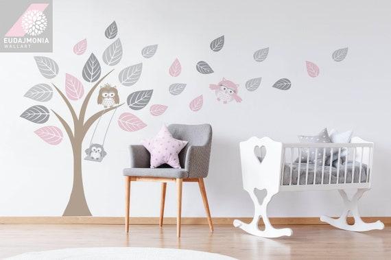 Baby Stickers Voor Op De Muur.Muur Stickers Owl Boom Kinderen Baby