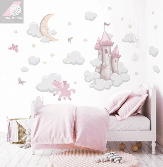Pegasus Kinderzimmer Wandtattoo Einhorn Prinzessin Zimmer Etsy