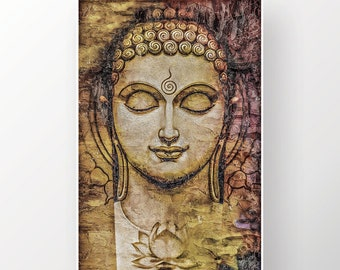 Buddha Canvas Etsy