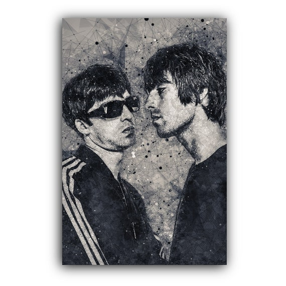 Oasis Band Collage Giclee Canvas Picture Wall Art