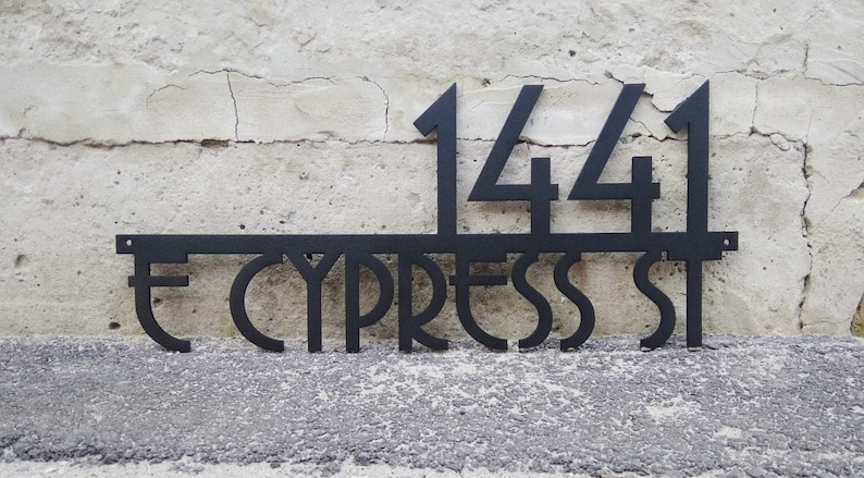 Modern Address Sign , Metal Address Sign, House Numbers, Door Number,  Address Sign, Number Sign, Metal House Number, House Number Plaque