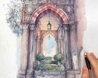 The original watercolor drawing Home decor