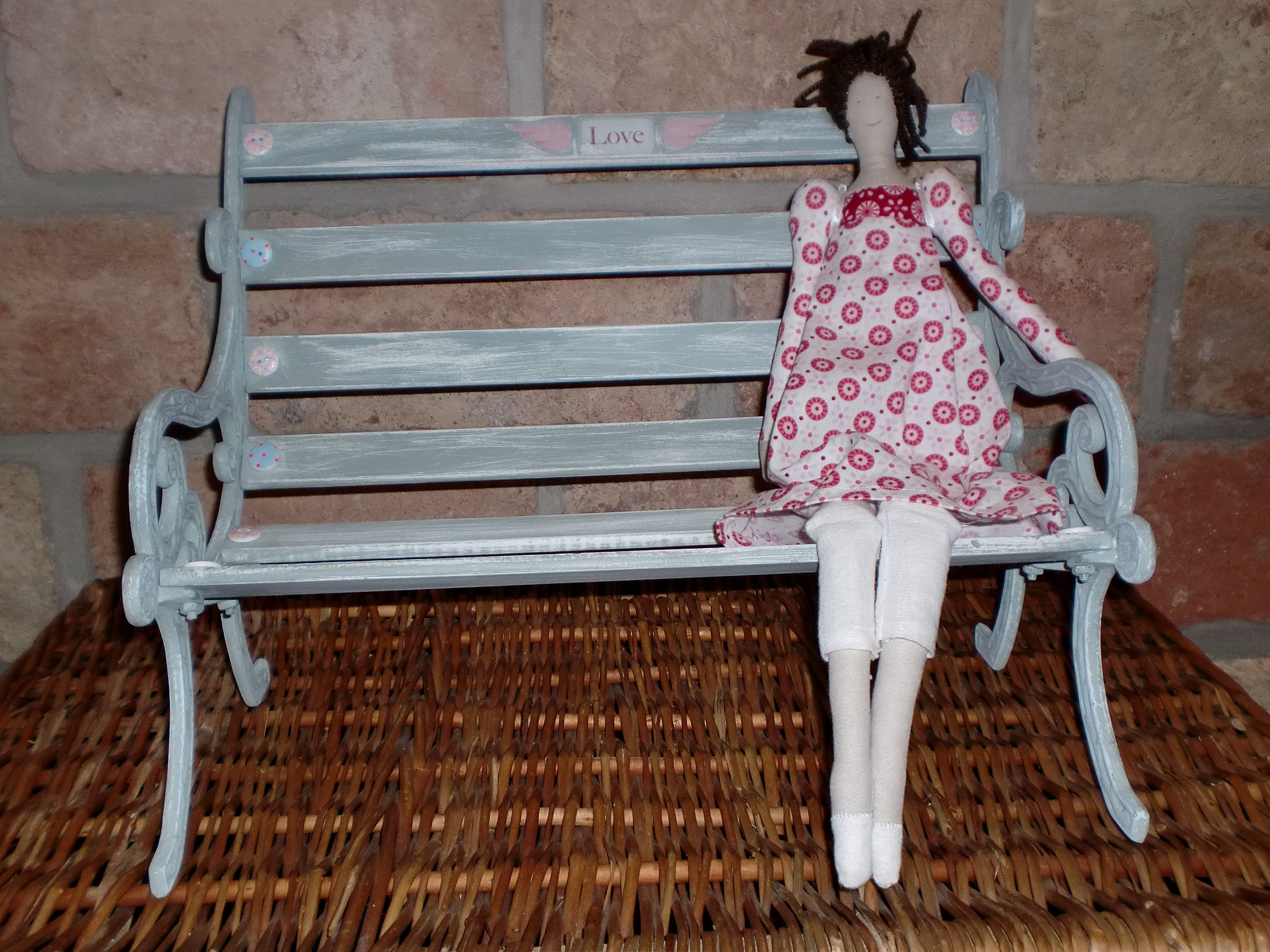 Vintage Shabby Park Bench For Bears And Tilda Etsy