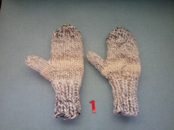 Handmade Mittens Medium Child Gemstone