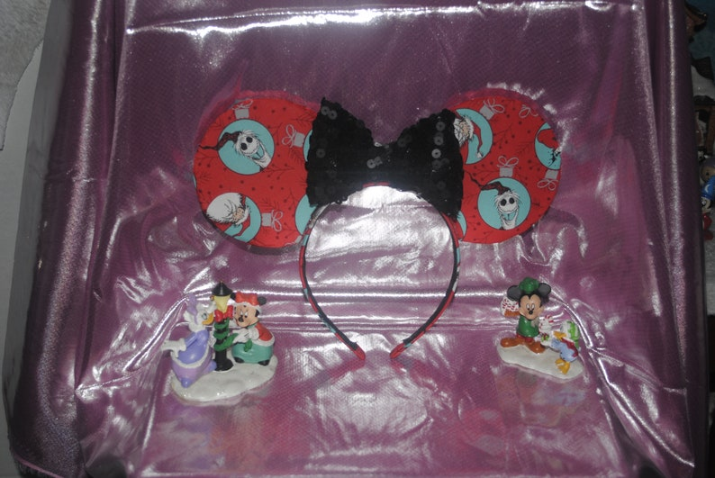 Red Nightmare Before Christmas Ornament ears