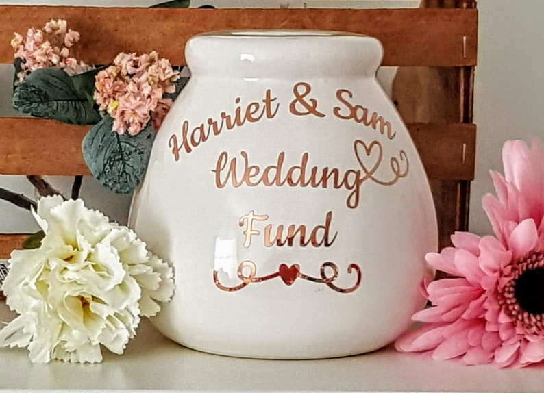 Ideal Engagement Gift Personalised Wedding Fund Moneybox