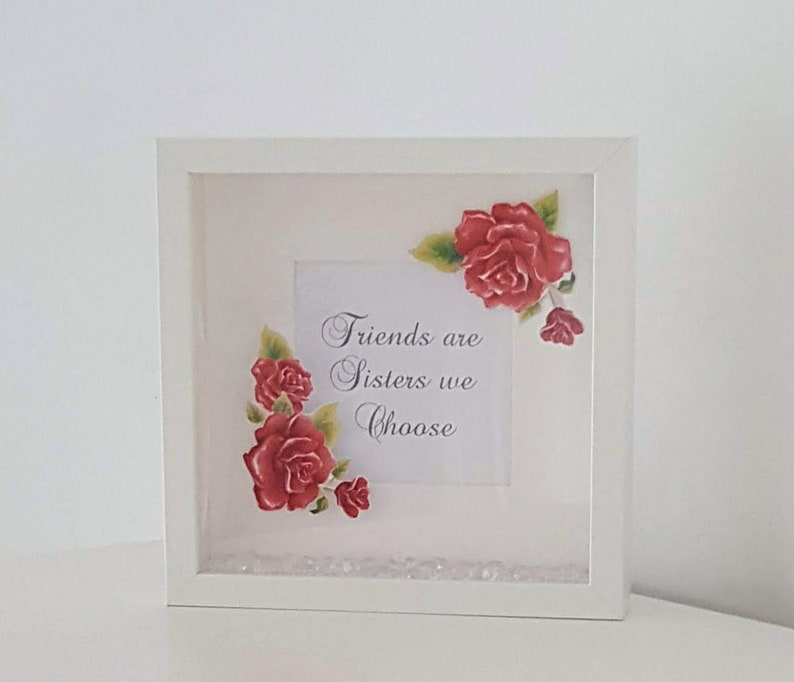 Box Frame Friends Frame Friend Saying Sister Best Friend Keepsake Friend Birthday Friend Present
