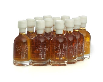 28106f5db7a Escuminac Pure Organic Maple Syrup Wedding Favors Grade A - Extra Rare - 12  x 50ml - Wedding Ideas Gift - Maple Syrup Bottles - 1.7 fl oz