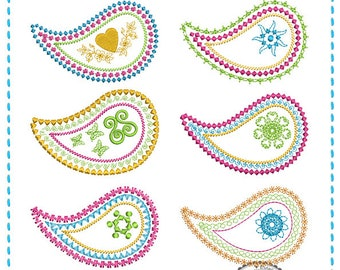 Paisley Motif Embroidery File Series (10x10)
