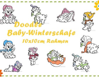 Doodle- Baby Winter Sheep - Embroidery File Set