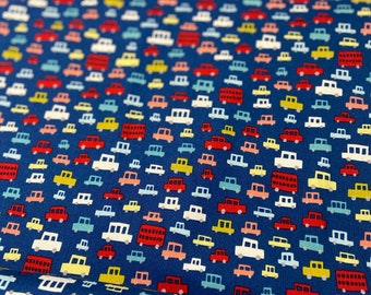 Michael Miller - Toot Toot - CX #4760 - Mini Cars in blue