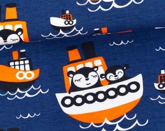 Organic Cotton Knit Paappii - Wilson organic jersey, blueberry / orange