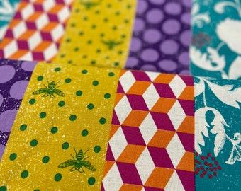 Kokka Echino decoro Zebra/Bees - Cotton Linen