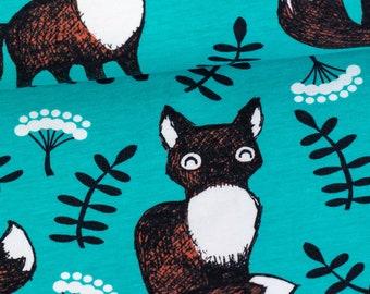 Organic Cotton Knit Paappii - Nuutti organic jersey, turquoise - rust