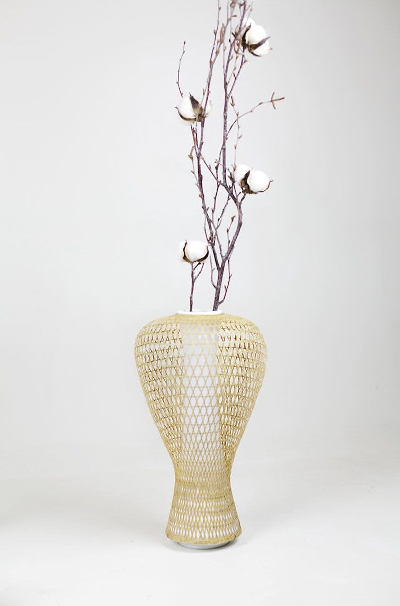 anaan table Vase dry flower Vase made of ceramics with image 0