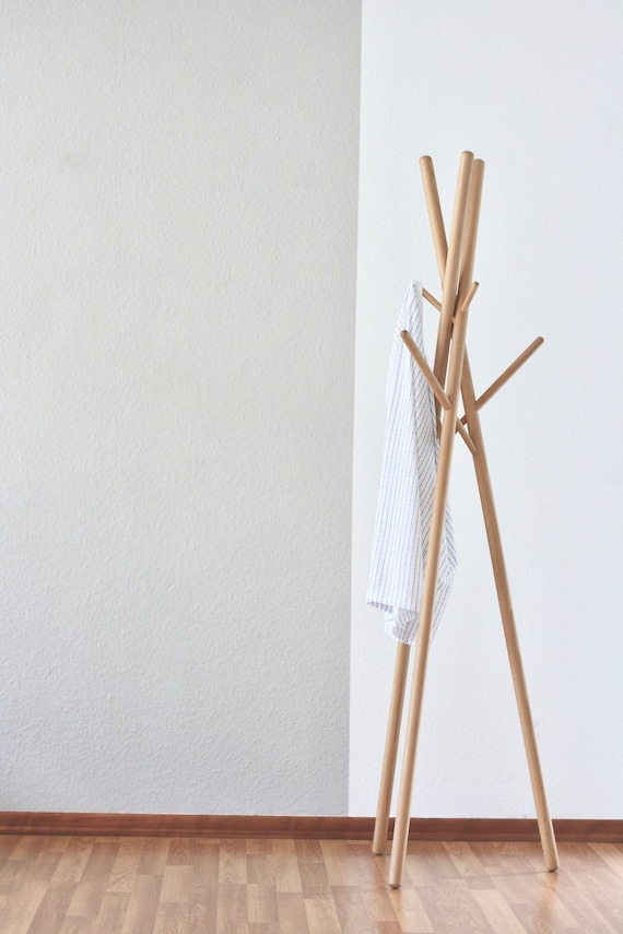Anaan 9 Design Coat Stand Wood Clothes Rack Free Etsy