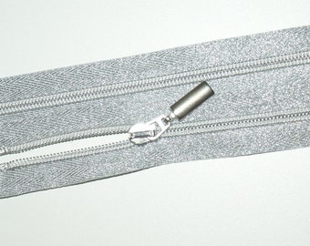 Zipper divisible in 50 cm color silver