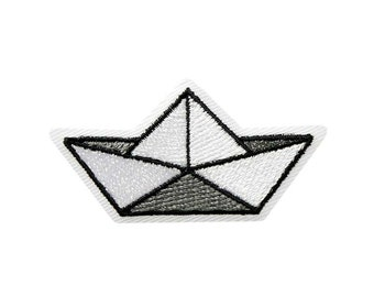Origami Boat, Ship, Ironing Image / Patch, Patch