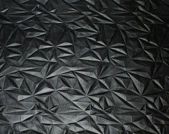 18,00Euro/meter faux leather black cut 50 x 68 cm, wrinkle structure