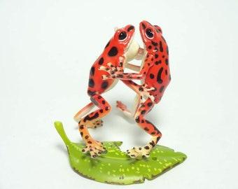 Kaiyodo Orange Poison dart Frog Frogs pvc mini figurine figure SP item RARE