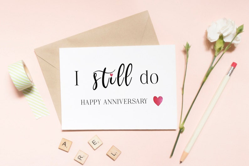 graphic regarding Happy Anniversary Card Printable referred to as I Even now Do Anniversary Card, Printable Pleased Anniversary Card, Quick Obtain, Spouse Spouse I Enjoy On your own Print By yourself Card,