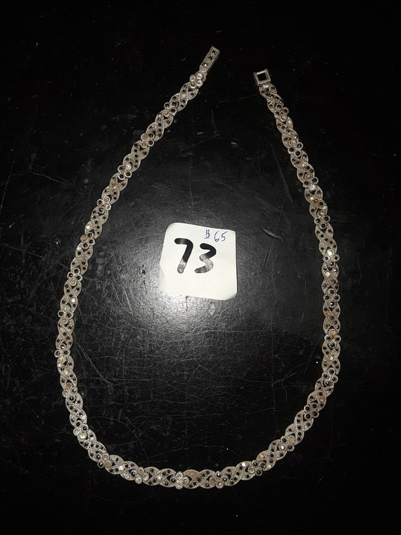 Necklace chain silver 925 stones