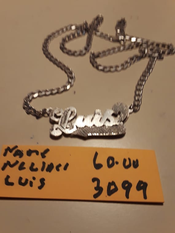 Name necklace  Luis  silver 925
