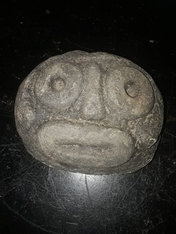 hand carved face rock very old  Dominican Republic