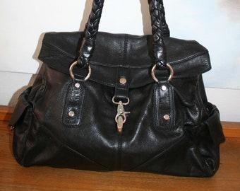 0dc589559d2af2 FRANCESCO BIASIA Tasche, große Handtasche, Shopper, Leder schwarz 100 %  Original