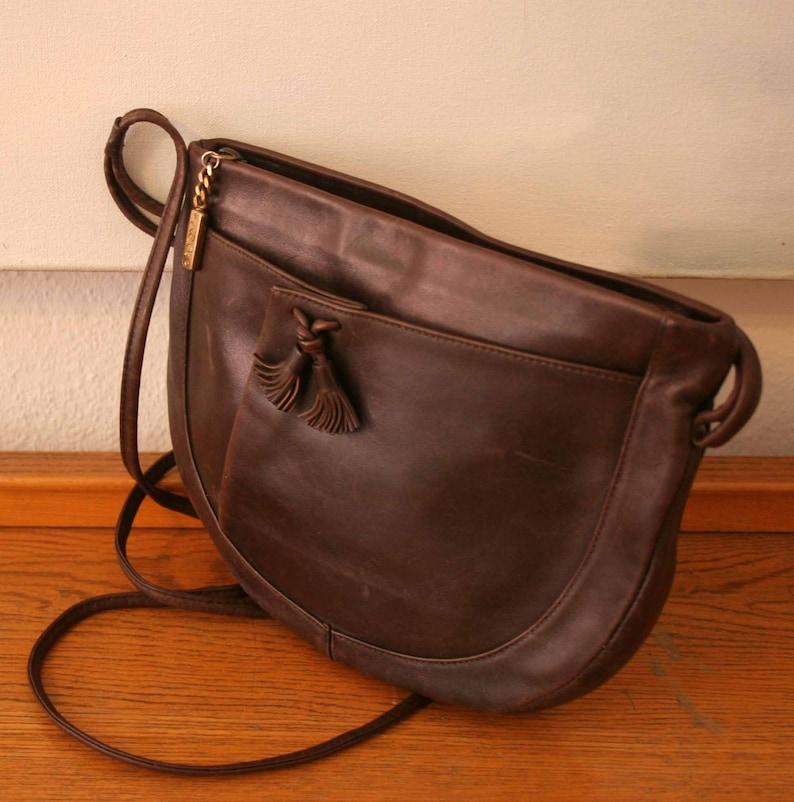ae30d09fd6fa0 Vintage Tasche Designer Leder Handtasche braun Original von