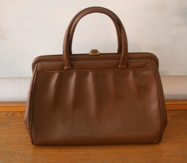 108598a4b74e0 Vintage Tasche braune Leder Damen Handtasche Original 40er
