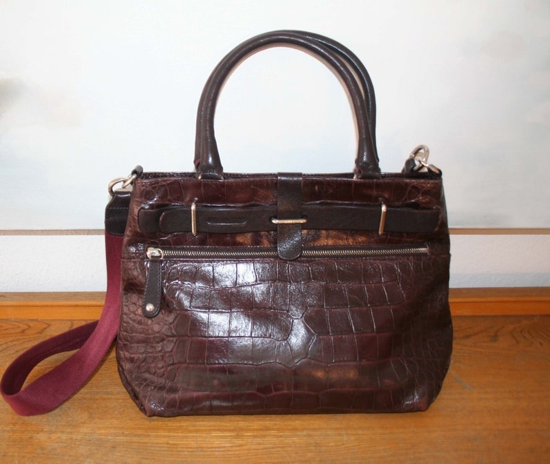 aa92530e98c87e Furla Tasche lässige mittelgroße Leder Handtasche Shopper   Etsy