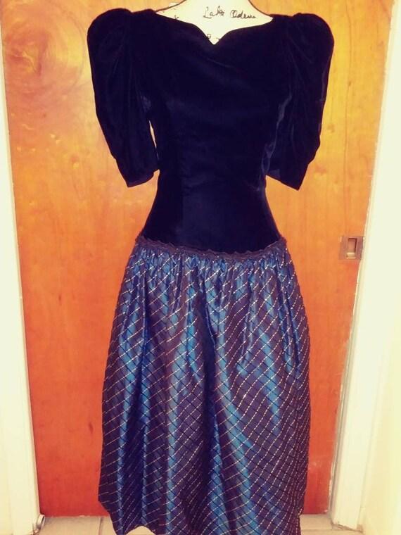 Vintage Scott McClintock Velvet Dress
