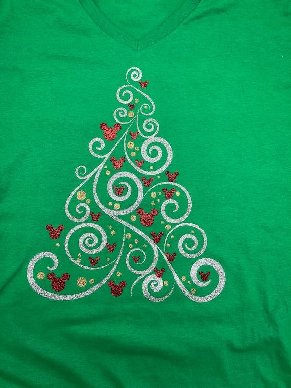 Mickey Mouse Christmas Tree.Mickey Mouse Christmas Tree Svg