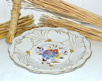 Schale Teller Weimar Porzellan + Goebel Handgemalt Plate Porcelain Vintage  Design Deko Dekoration Shabby Vitrine Geschirr Dishes Landhaus