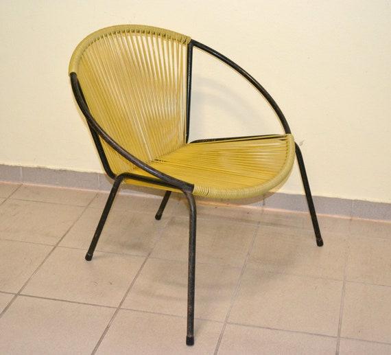 60s Chair Mid Century Design Armchair Space Furniture Garden Lounge Vintage Spaghetti 50s 1960 Rockabilly Ddr kXTwOPiuZ