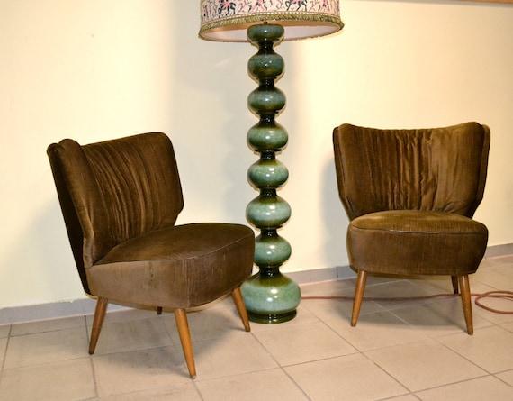 mid Design Living 2 Cocktailsessel Sessel Club 60er Chair Stuhl armchair 1960 Clubsessel Vintage 1950 50er Rockabilly Lounge Room century 0nOPkw