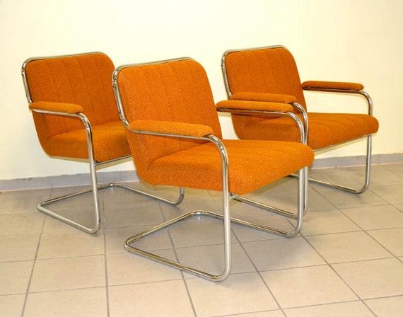 Stahlrohr Sessel 70er Ddr Freischwinger Design Armchair Chair Etsy