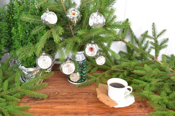 Christbaumkugeln Reflexkugeln.Christbaumschmuck 8 Reflexkugeln Reflektor Kugeln Christbaumkugeln Weihnachtsbaum Christmas Tree Balls Bell Christbaum Shabby Silber Xmas